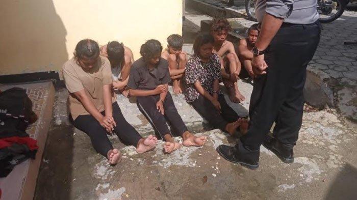 Sekumpulan anak pun yang diamankan Polsek Tambakboyo Tuban, Sabtu (27/2/2021).