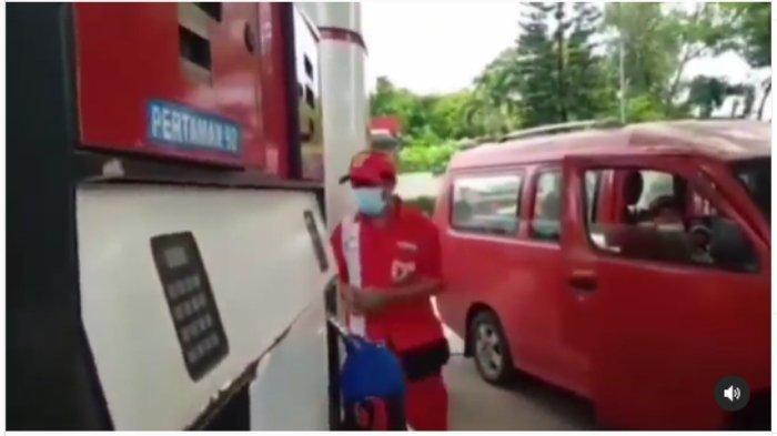 Tangkap layar video vuiral diduga ada praktik kecurangan di SPBU Jatake Tangerang
