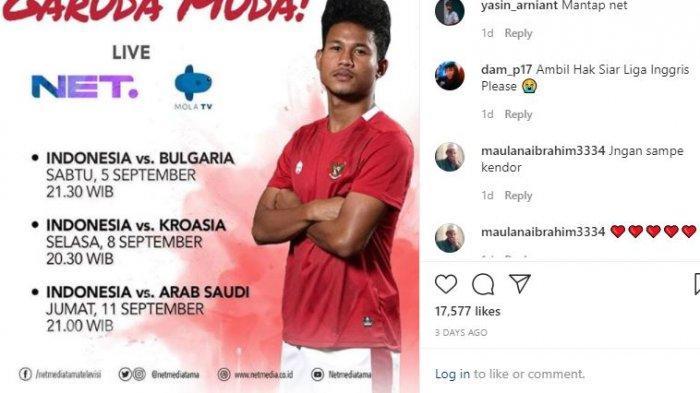 Jadwal Siaran Langsung Malam Ini Timnas Indonesia U 19 Vs Arab Saudi Duel 2 Tim Tanpa Kemenangan Tribunnewswiki Com Mobile