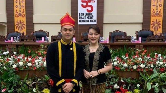 Wakil Ketua DPRD Sumatera Utara, James Arthur Kojongia (Kiri) dan Istri Michaela Elsiana Paruntu (Kanan)