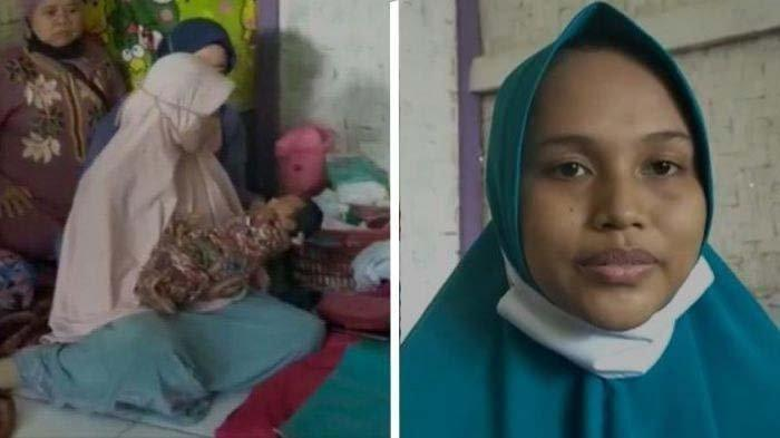 Siti Zainah, janda asal Cianjur, mengaku melahirkan bayi perempuan tanpa hamil.