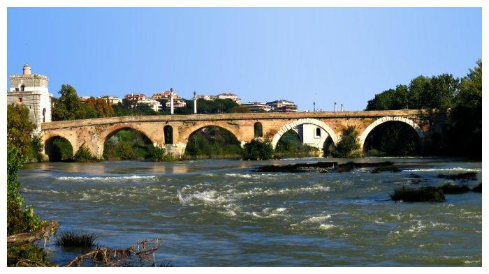 Jembatan Milvian, tempat pertempuran Konstantin melawan Maxentius