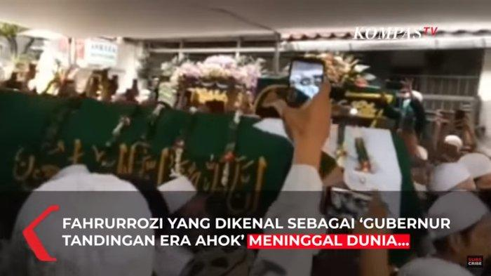 Jenazah Fahrurrozi Ishaq yang dikenal sebagai 'Gubernur Tandingan Era Ahok' disemayamkan di rumah duka di jalan Rawa Buaya, Jatinegara, Jakarta Timur. Banyak pelayat yang datang meski dari hasil tes swab di Rumah Sakit Polri Kramat Jati, Fahrurrozi terbukti positif Corona.