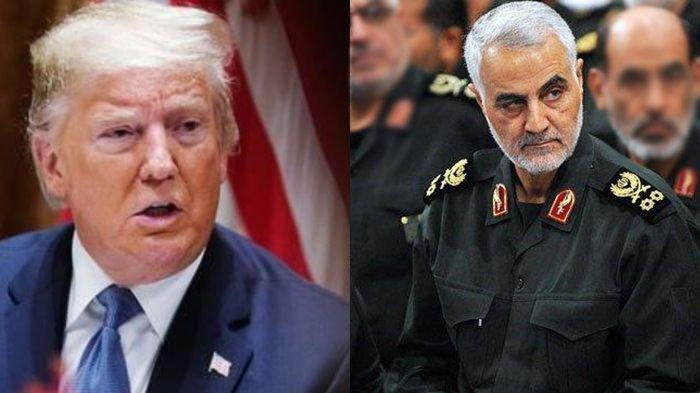 Serangan itu merupakan serangan balasan Iran setelah Qasem Soleimani dibunuh atas perintah Trump