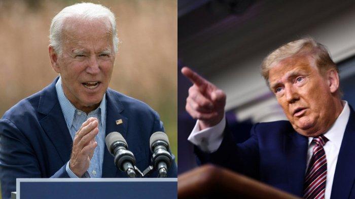 FOTO: Joe Biden (kiri), dan Donald Trump (kanan)