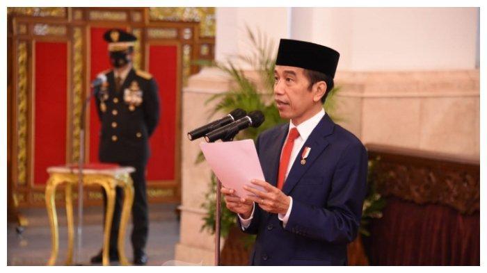 Presiden Republik Indonesia Joko Widodo memimpin upacara Peringatan HUT ke-75 TNI yang digelar secara virtual dari Istana Negara, Jakarta Pusat, Senin (5/10/2020).