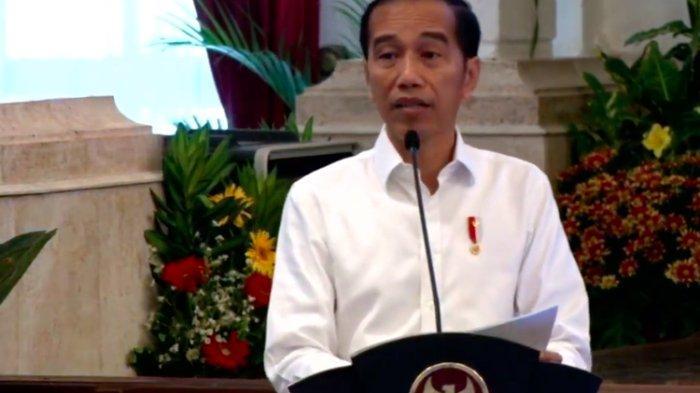 Presiden Joko Widodo meresmikan pengoperasian Palapa Ring di sebuah acara di Istana Merdeka, Senin (14/10/2019).(YouTube Sekretariat Kabinet)