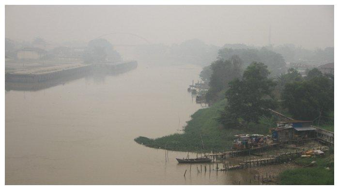 ilustrasi kabut asap di Pekanbaru