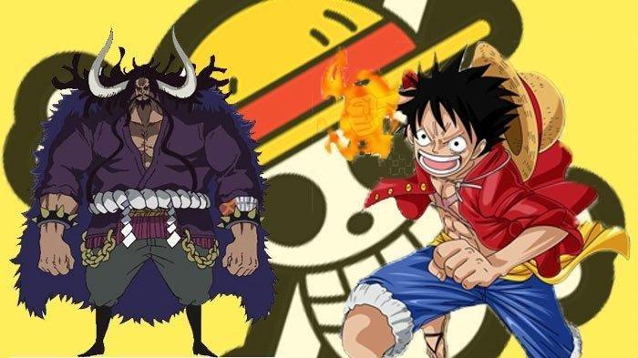 Kaido dan Luffy di serial One Piece