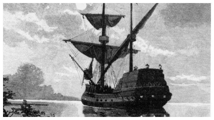 Kapal Duyfken yang digunakan Willem Janszoon dalam ekspedisinya yang mencapai Australia