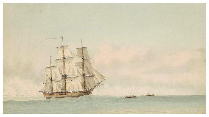 Kapal HMS Endeavour yang digunakan James Cook untuk berlayar ke Selandia Baru