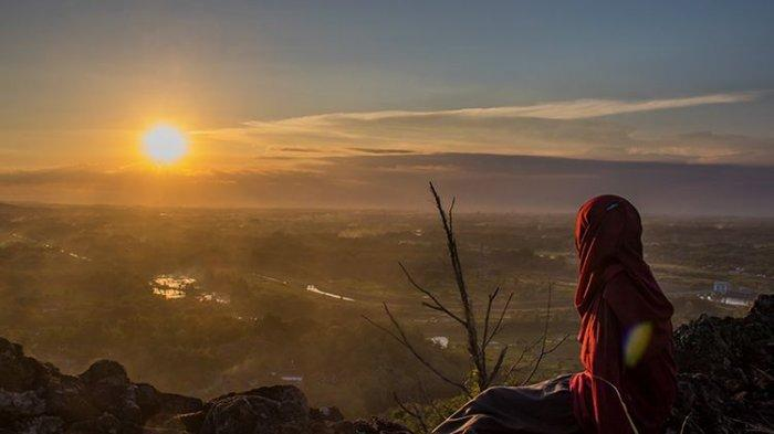 Ilustrasi matahari terbit