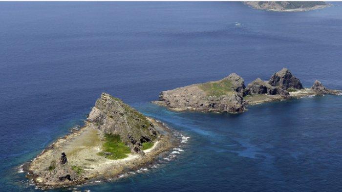 ILUSTRASI - Kepulauan Senkaku di Laut China Timur. (Kyodo)