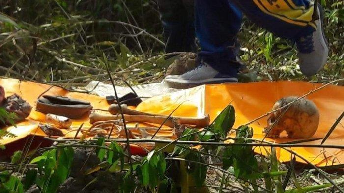 Kerangka manusia ditemukan di Kampung Tengah, Kelurahan Lubuk Semut, Kecamatan Karimun, Kabupaten Karimun, Provinsi Kepulauan Riau (Kepri), Jumat (25/10/2019) pagi.