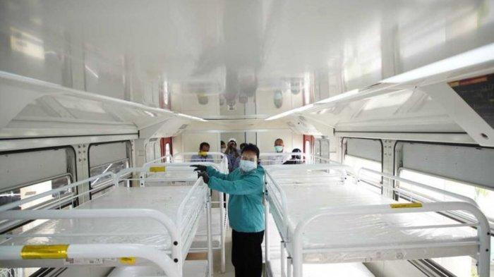 ILUSTRASI - KERETA ISOLASI-Walikota Madiun, Maidi melihat kondisi kereta medis darurat milik PT INKA yang akan dijadikan sebagai tempat perawatan pasien covid-19. Pemkot Madiun berencana meminjam kereta medis tersebut setelah ruang isolasi di rumah sakit penuh.