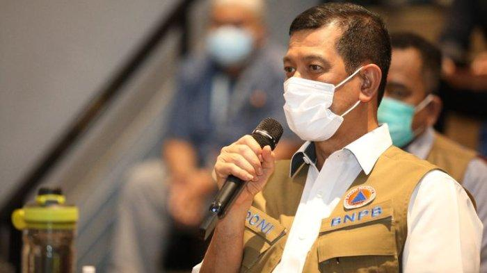 Ketua Satgas Covid-19 Doni Monardo dalam Rapat Koordinasi Penanganan COVID-19 di Bandara Internasional Soekarno-Hatta, Tangerang, Banten, Selasa (29/12/2020).