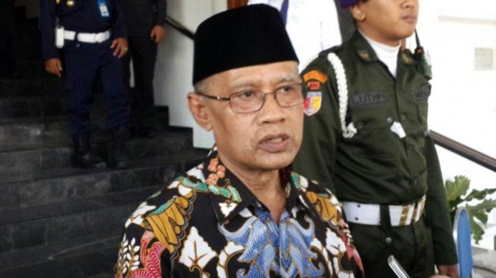 Ketua Umum Pimpinan Pusat Muhammadiyah Haedar Nashir saat menghadiri Pesmaba Universitas Muhammadiyah Malang (UMM), Senin (2/9/2019)(KOMPAS.COM/ANDI HARTIK)
