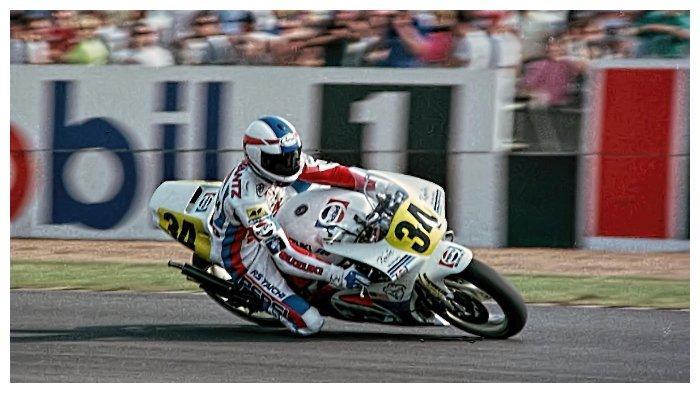 Kevin Schwantz di Donington Park 1989