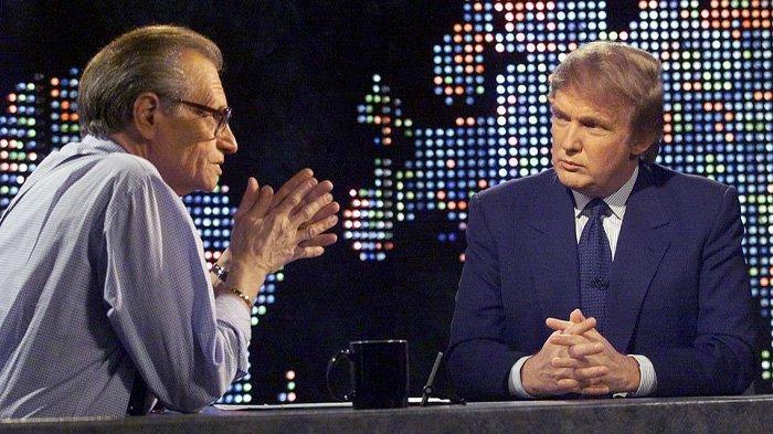 Dalam salah satu dari banyak pertemuan dengan Donald Trump, King bertanya kepada pengembang real estate pada 1999 apakah dia pernah tertarik mencalonkan diri sebagai presiden. Dalam wawancara tersebut, Trump mengatakan kepada King bahwa,