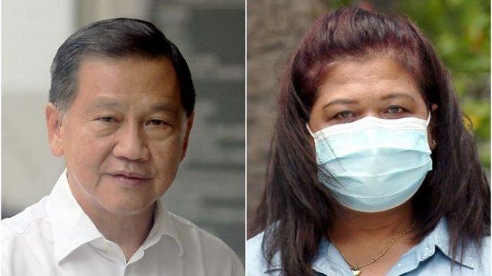 Mantan Bos Bandara International Changi, Singapora Liew Mun Leong (kiri) dan mantan TKI yang bekerja di kediamannya Parti Liyani.