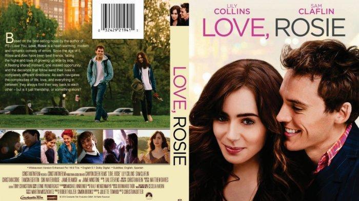 Poster film Love, Rosie yang diperankan oleh Lili Collins bersama Sam Claflin (imdb.com)