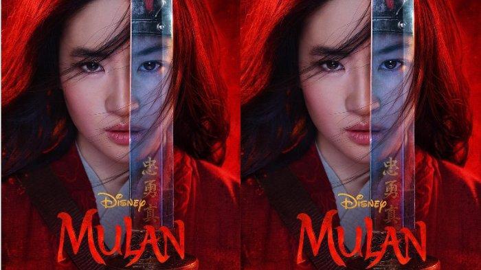Potret Liu Yifei dalam poster film live action Disney, Mulan