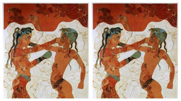 Lukisan pemuda Minoan sedang bertinju
