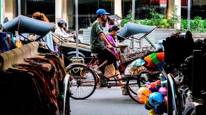 Suasana jalan Malioboro, Yogyakarta.(indonesia.travel)