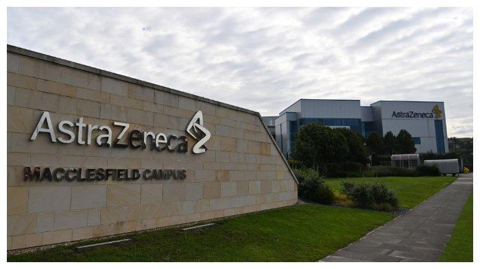 Markas perusahaan farmasi dan biofarmasi Astra Zeneca di Macclesfield, Cheshire, Inggris.