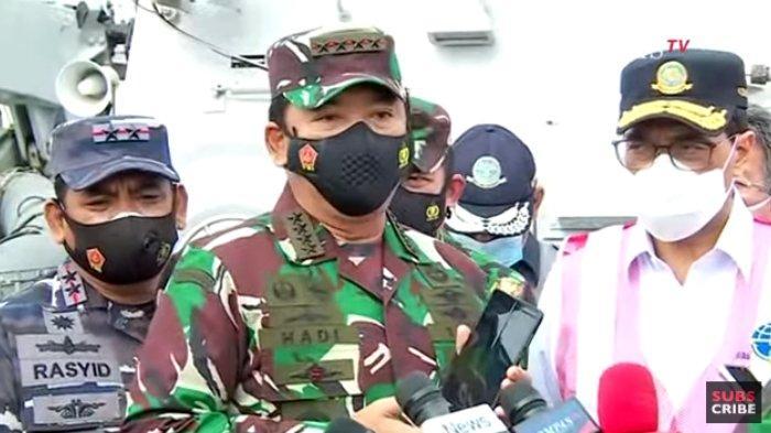 Panglima TNI Marsekal Hadi Tjahjanto yakin pesawat Sriwijaya Air dapat dievakuasi Minggu (10/1/2021) sore.