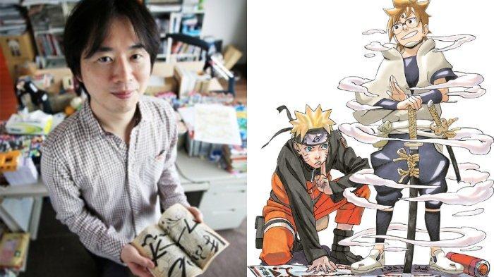 Masashi Kishimoto, pencipta komik populer Naruto dan Naruto bersama Hachimaru, karakter dalam The Tale of Hachimaru