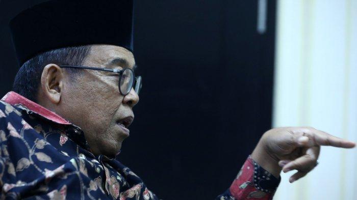 Juru Bicara Wakil Presiden Ma'ruf Amin, Masduki Baidlowi menjawab pertanyaan saat wawancara khusus dengan Tribunnews.com di Jakarta, Kamis (28/11/2019). TRIBUNNEWS/IRWAN RISMAWAN