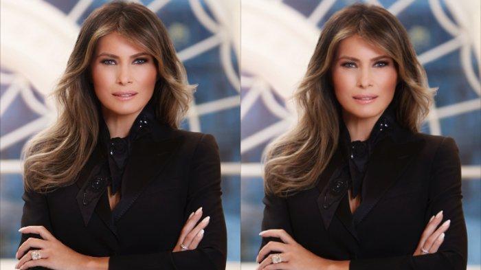 Ibu Negara Melania Trump adalah mantan model dan istri ketiga Presiden AS, miliarder real estate dan mantan bintang reality TV  Donald Trump