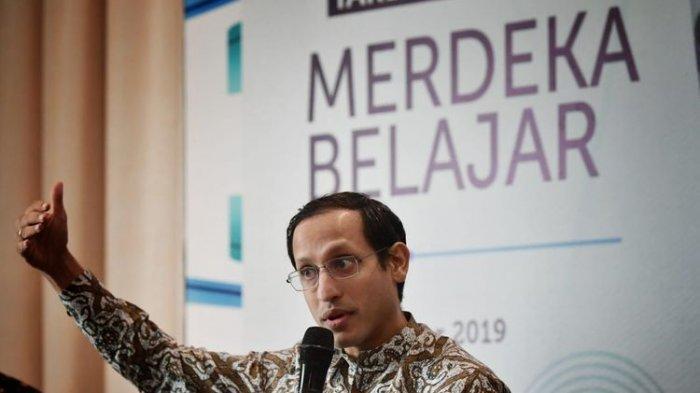 Mendikbud Nadim Makarim menjelaskan arah kebijakan pendidikan Merdeka Belajar dalam Rapat Koordinasi Mendikbud dengan Kepala Dinas Pendidikan se-Indonesia di Jakarta, Rabu (11/12/2019)