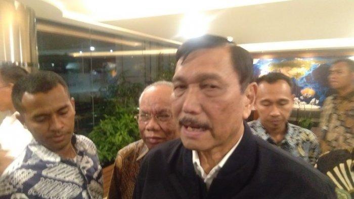 Menko Maritim dan Investasi, Luhut B Pandjaitan Paparkan Rakor Investasi kepada rekan media, Jakarta, Jumat (15/11/2019).(KOMPAS.com/ADE MIRANTI KARUNIA SARI)