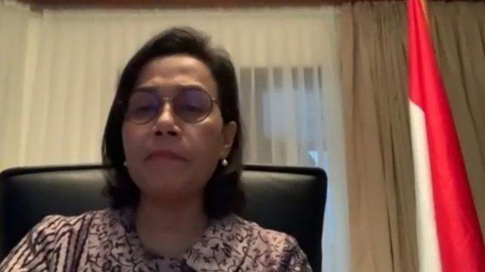 Menteri Keuangan Sri Mulyani Indrawati ketika memberikan keterangan kepada media melalui video conference di Jakarta, Selasa (24/3/2020).(KOMPAS.COM/MUTIA FAUZIA)