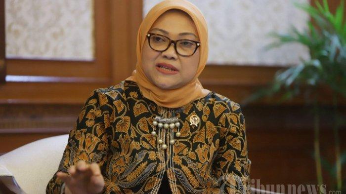 Menteri Ketenagakerjaan RI, Ida Fauziah saat diwawancarai secara khusus oleh Tribunnews di Kantor Kemnaker RI, Jakarta Selatan, Rabu (4/3/2020).