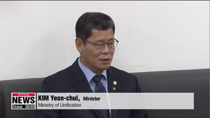 Menteri Unifikasi Korea Selatan Kim Yeon Chul menawarkan untuk mengundurkan diri untuk bertanggung jawab atas hubungan yang memburuk dengan Korea Utara pada Rabu (17/6/2020).(arirang.com)
