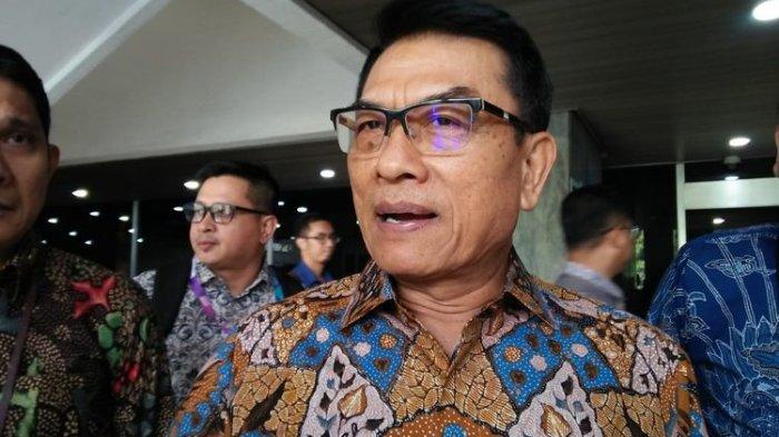 Kepala Staf Kepresidenan (KSP) Jenderal (purn) Moeldoko di Kompleks Parlemen, Senayan, Jakarta, Selasa (18/6/2019)(KOMPAS.com/Haryantipuspasari)