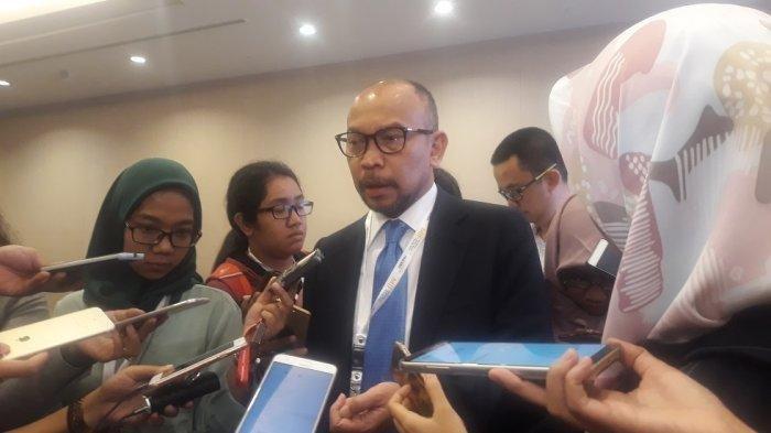 Chatib Basri saat ditemui usai acara Mandiri Investment Forum (MIF) 2019 di Hotel Fairmont, Jakarta Selatan, Rabu (30/1/2019).