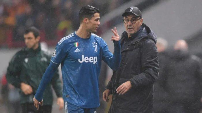 Cristiano Ronaldo dan Maurizio Sarri, disebutkan tidak akur sebagai pemain dan pelatih.