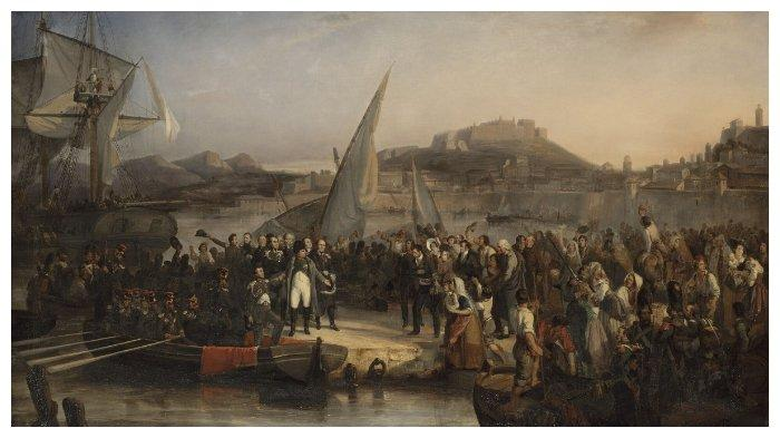 Napoleon Bonaparte meninggalkan Pulau Elba tanggal 26 Februari 1815
