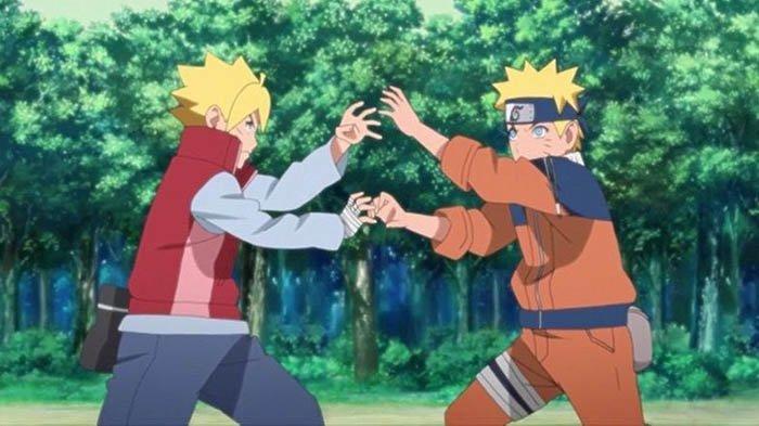 Boruto di masa kecil Naruto.