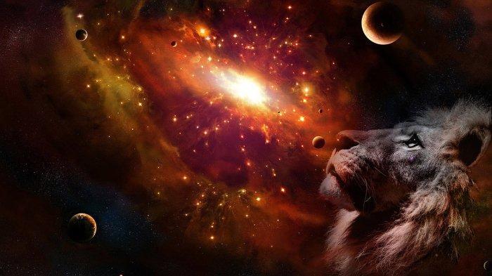 Ilustrasi simbol zodiak Leo.