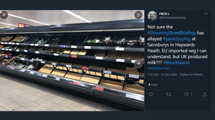 Panic buying di Inggris setelah kehadiran virus corona varian baru