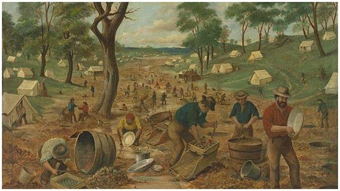 Para pencari emas di Australia abad ke-19
