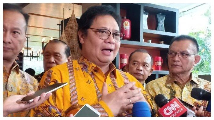 Ketua Umum Partai Golkar Airlangga Hartarto saat di Hotel Shangri La Jakarta, Sabtu (21/9/2019).