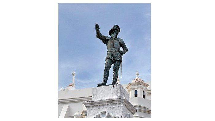 Patung Juan Ponce de Leon di San Juan