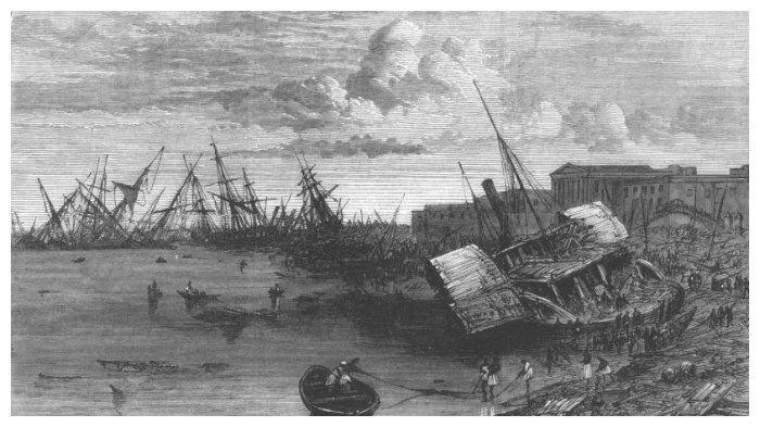 Pelabuhan Coringa rusak akibat siklon
