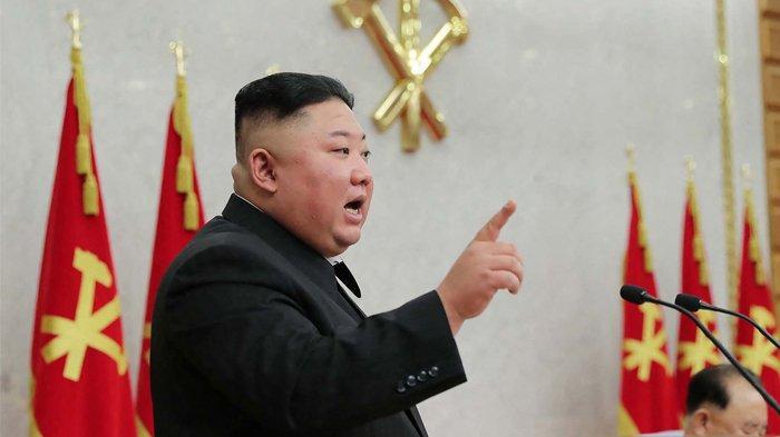 Gambar ini diambil pada 8 Februari 2021 dan dirilis dari Kantor Berita Pusat Korea (KCNA) resmi Korea Utara.